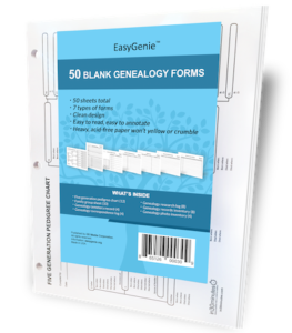 EasyGenie blue genealogy bundle 3D standing 400x460
